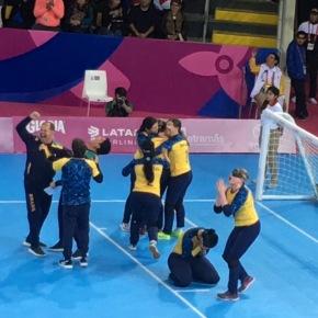 Ana Carolina Duarte anotó primer gol de electrizante gólbol Parapanamericano2019 con oro paraBrasil