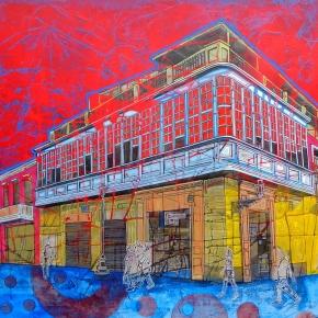 Artista peruano Persi Narváez presenta muestra de pinturas sobre ciudades enUruguay