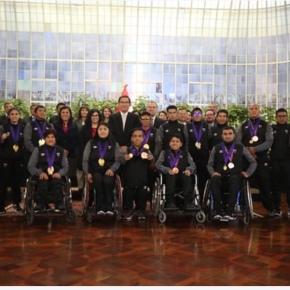 Medallistas peruanos de los Juegos Parapanamericanos recibieron condecoración de la Presidencia de laRepública