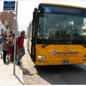 Sube tarifa de rutas alimentadoras del Metropolitano deLima