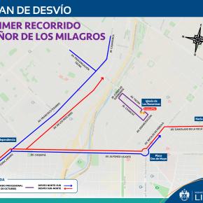 Primer Recorrido del Señor de los Milagros: Plan de Desvío vehicular y Servicios del Metropolitano y CorredoresComplementarios