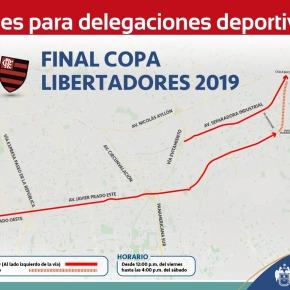 Delegaciones deportivas de la Copa Libertadores 2019 se trasladarán por carriles exclusivos en avenidas deLima
