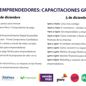 Más de 3 mil emprendedores serán capacitados gratuitamente en el Parque de laExposición