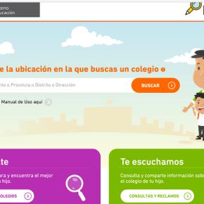 Datea tu Cole e Identicole: Información sobre matrícula y oferta educativa en colegios públicos y privadosperuanos
