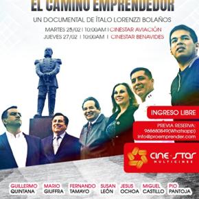 Pelicula Documental ¨Dia a Dia El Camino Emprendedor¨ con ingreso libre enCinestar