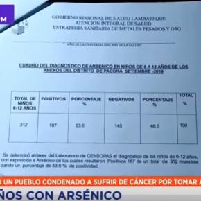 Son 167 niños contaminados con arsénico en Lambayeque-Perú, pero salud pública no brinda nombres: Pacora continúa sentenciado a tenercáncer