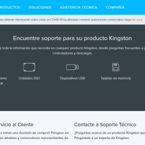 Kingston ofrece servicio de soporte técnico remoto de forma gratuita a todos susclientes
