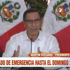 Perú completará cuarentena por Coronavirus COVID 19: Gobierno amplía restricción de circulación de personas por 14 días más, cierre de fronteras y otrasmedidas