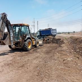 Prohvilla retiró 280 metros cúbicos de desmonte en canal que alimenta los Pantanos deVilla