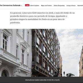 Cifra de muertes por COVID 19 que el Gobierno de Perú no publica: Periodistas extranjeros y prensa independiente peruanareportan