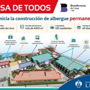"""El albergue """"La Casa de Todos"""" será permanente en terreno de la Beneficencia deLima"""