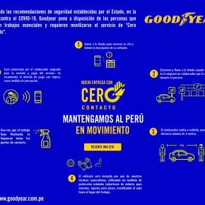 """Red de Centros de Servicio Goodyear implementa """"Cero Contacto"""" entre el usuario y eltécnico"""