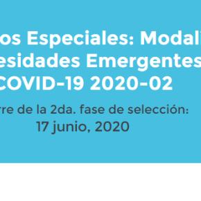 """Lista de resultados finales Concurso""""Proyectos Especiales: Modalidad – Necesidades Emergentes al COVID-19 2020-02″: 21 proyectos por Concytec segunda convocatoria con financiamiento de S/ 5.5millones"""