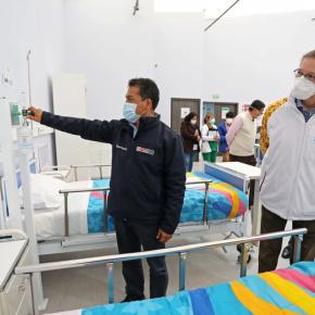 Hospitales temporales en  Cayetano Heredia y Coliseo Lolo Fernández en Cañete empezaron a recibir pacientes informó el Legado de los Juegos Lima2019