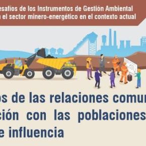 Los retos de las relaciones comunitarias: Webinar gratuito en el ciclo de Instrumentos de Gestión Ambiental en el sector minero-energético