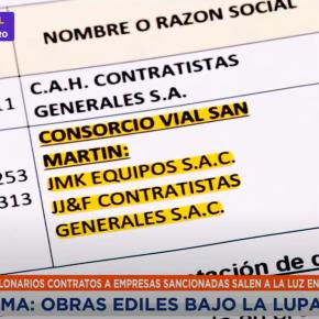 Bajo investigación del OSCE: Obras de asfaltado de la Municipalidad de Lima con empresas sancionadas por contratos de 42 millones desoles