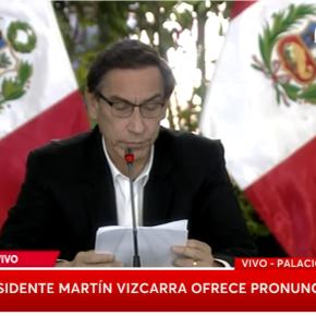 Presidente de Perú responsabiliza de aumento de contagios COVID 19 a reuniones familiares y sociales por ese motivo las prohíbe, regresa a inmovilización los domingos, extensión de cuarentena a 5 departamentos y 34 provincias y salida de menores de edad sólo 30minutos