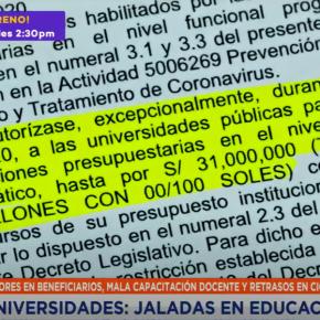 Presupuestos para educación virtual de universidades públicas mal utilizadas en Perú durante la pandemia COVID19