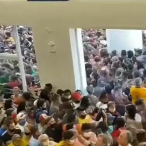 Aglomeración multitudinaria en inauguración de Tienda Havan en Belén, Brasil en tiempos de pandemia COVID 19: Fue clausurada por la policía civil ymilitar