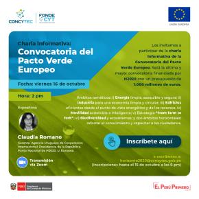 Convocatoria del Pacto Virtual Europeo: Charla informativa de 5 ejes temáticos con presupuesto de mil millones deeuros