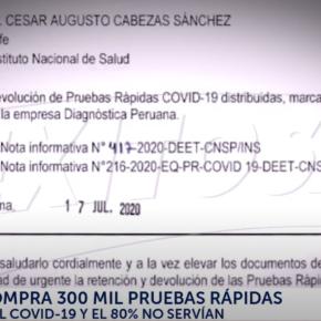 Pruebas serológicas adquiridas por el gobierno peruano no servían en el 80% comprobado y cuestionamientos al INS para medir sensibilidad depruebas