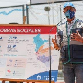 Municipalidad de Lima informa que Plan de 156 obras sociales proyectadas al 2021 supera los 215 millones desoles