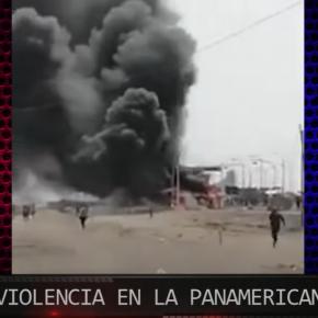 En Perú manifestantes agricultores por pagos justos en sector, aún no esclarecido si son infiltrados, queman ambulancia y atacan y secuestran a policías, mientras ellos no puedenrepelerlos