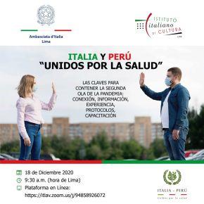 Médicos, científicos y diplomáticos italianos y peruanos en conferencia abierta al público comparten experiencias para contener la segunda ola de la pandemia COVID19