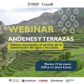 Conservación del agua y los suelos, enseñanzas ancestrales: Webinar gratuito andenes yterrazas