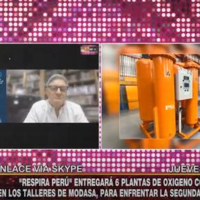 Respira Perú realiza donación de seis plantas de oxígeno construídos por empresa peruana Modasa en segunda ola COVID 19 enPerú