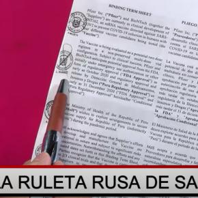 Presidente de Perú, Francisco Sagasti, afirma que laboratorio ruso Gamaleya Vacuna Sputnik V no ha pedido registro formal a Digemid de Perú para que el gobierno las exporte, mientras que su agente dice que presentaron al sector salud la documentación técnica de la vacuna, carta de representación con traducción oficial y extrañamente dieron el permiso biológico a otraempresa