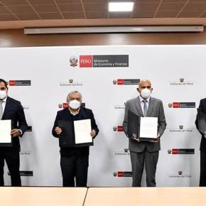 Ministerio de Economía y Finanzas de Perú suscribió préstamos con BID y CAF por más de 340 millones de dólares para infraestructura vial en 16departamentos