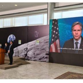 Brasil se une al Programa Artemis liderado por EE.UU en cooperación internacional para desarrollar tecnología y experiencia necesarias para montar una misión humana histórica a Marte, actividades espaciales pacíficas yresponsables