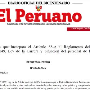 """Gobierno peruano saliente de Sagasti añade el artículo 88-A en Reglamento de la Ley de Carrera y Situación del personal de la Policía Nacional del Perú. """"¿No tener posibilidad para una segunda maestría o no haber sido condecorado 3 veces? Analiza abogado constitucionalista"""