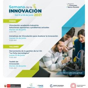 Semana de la Innovación Proyecto Concytec y Banco Mundial: Del 21 al 25 de junio2021