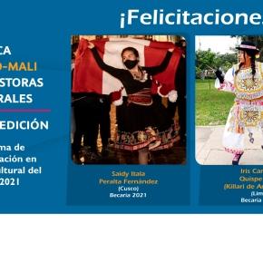 Joven difusora de la danza de tijeras Killari de Andamarca y la artista escénica Saidy Peralta obtienen la Beca UNESCO –MALI