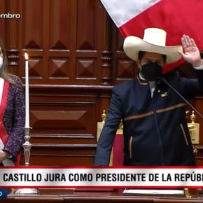 Pedro Castillo juró a la presidencia de Perú por una Nueva Constitución y en su discurso también se ratificó con el Estatismo y modelo dictatorial. ¿De su propia voz essedición?