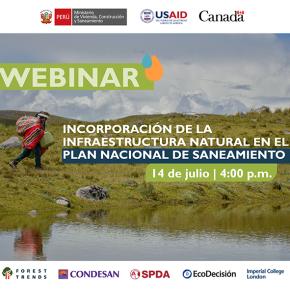 Plan Nacional de Saneamiento en Perú: Incorporación de la infraestructura natural Webinar 14 de julio PET 16horas