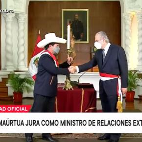 Nuevo canciller de Perú Oscar Maúrtua aleja orientación de extrema izquierda en relaciones internacionales en comparación con el salienteBéjar