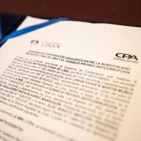 La Municipalidad de Lima y el Consejo Privado Anticorrupción suscribieron convenio por donación de plataforma con software EPG para realizar compras públicas mástransparentes