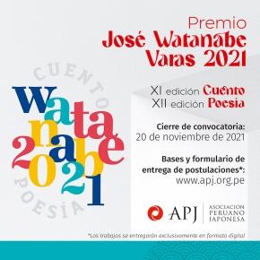 """El """"Premio José Watanabe Varas 2021"""" en Cuento y Poesía de la Asociación Peruano Japonesa recibe obras hasta el 20 de noviembre a través de un formulariovirtual"""