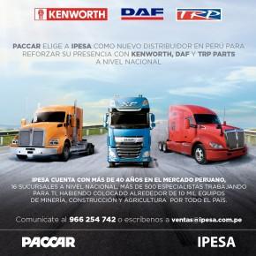 Ipesa es el nuevo distribuidor oficial de las marcas Kenworth y DAF para equipos especializados en minería, construcción yagricultura